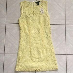 NWT Yellow Lace Dress